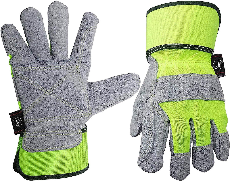 Comfortable Anti-Scalding Heat-Insulating KIM YUAN Leather Gardening Gloves