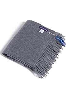 fishers finery fringe throw blanket 100 pure cashmere dark gray - Cashmere Blanket