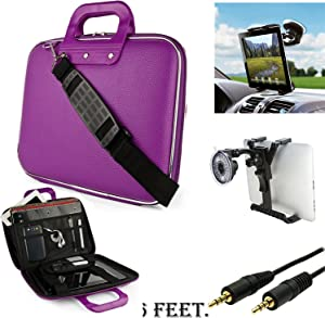 eBigValue Leather Notebook Tablet Computer Cube Case for Lenovo IdeaTab A10, S6000 10.1 inch Android Tablet and Auxiliary and Windshield Car Mount