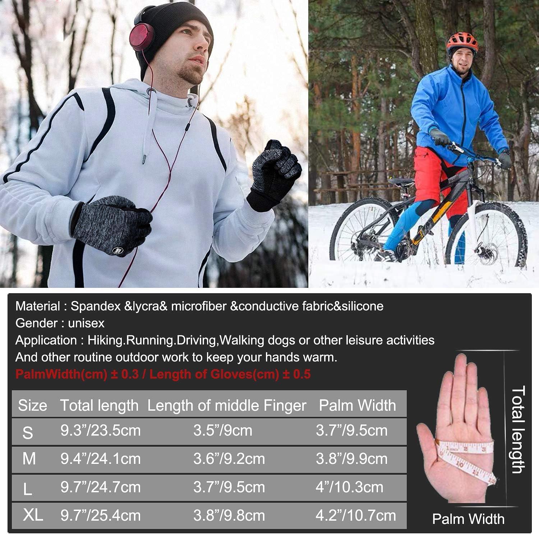 PERSIST Guantes Invierno Negros Ciclismo Bici MTB Bicicleta de Mujer Hombre Termicos Gel Tactiles