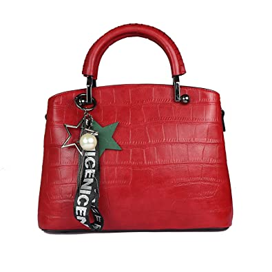 iSweven Premium PU Women s Handbag with Adjustable strap Red colour ... 15f9eb9f3906a