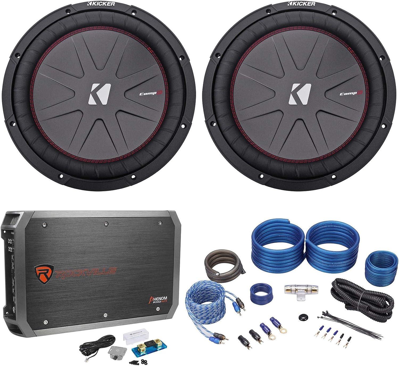 "(2) Kicker 43CWR124 COMPR12 12"" 2000 Watt Car Subwoofers+Mono Amplifier+Amp Kit 81xG9eqBxmLSL1500_"