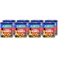 8-Pack Planters Classic Roasted & Salted Peanuts 6 Ounce Canisters