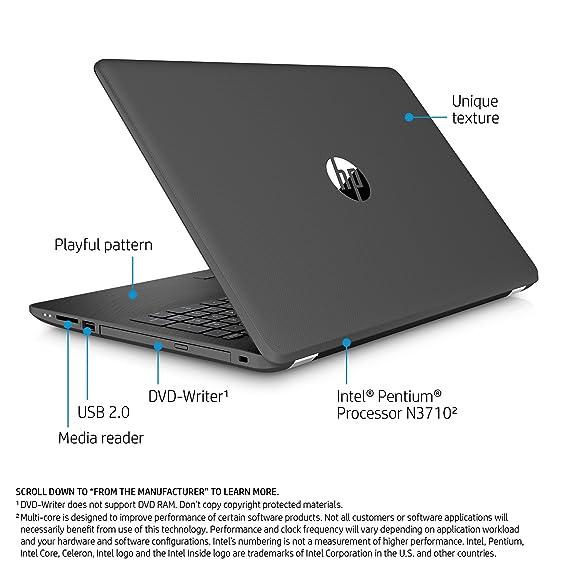 Amazon.com  HP 15-inch Laptop, Intel Pentium N3710, 4GB RAM, 1TB hard  drive, Windows 10 (15-bs010nr, Gray)  Computers   Accessories 96c26265e285