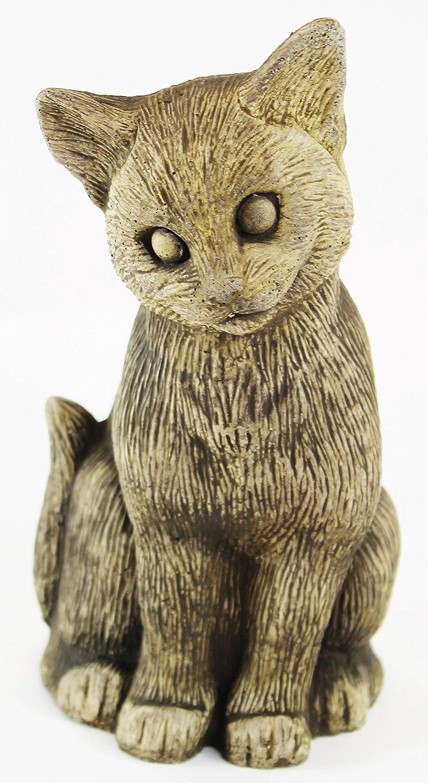 Amazon.com : Standing Kitty Concrete Statue Cement Cat Figurine cast ...
