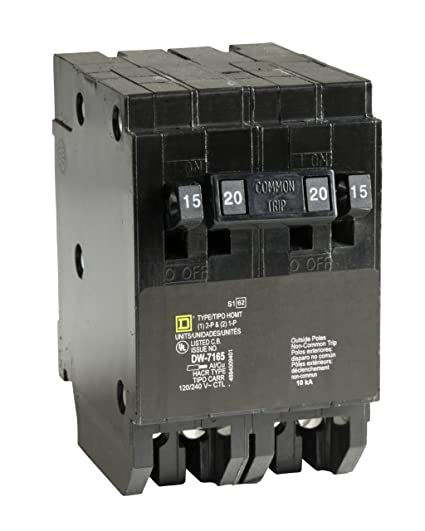 Square D by Schneider Electric HOMT1515220CP Homeline 2-15-Amp ...