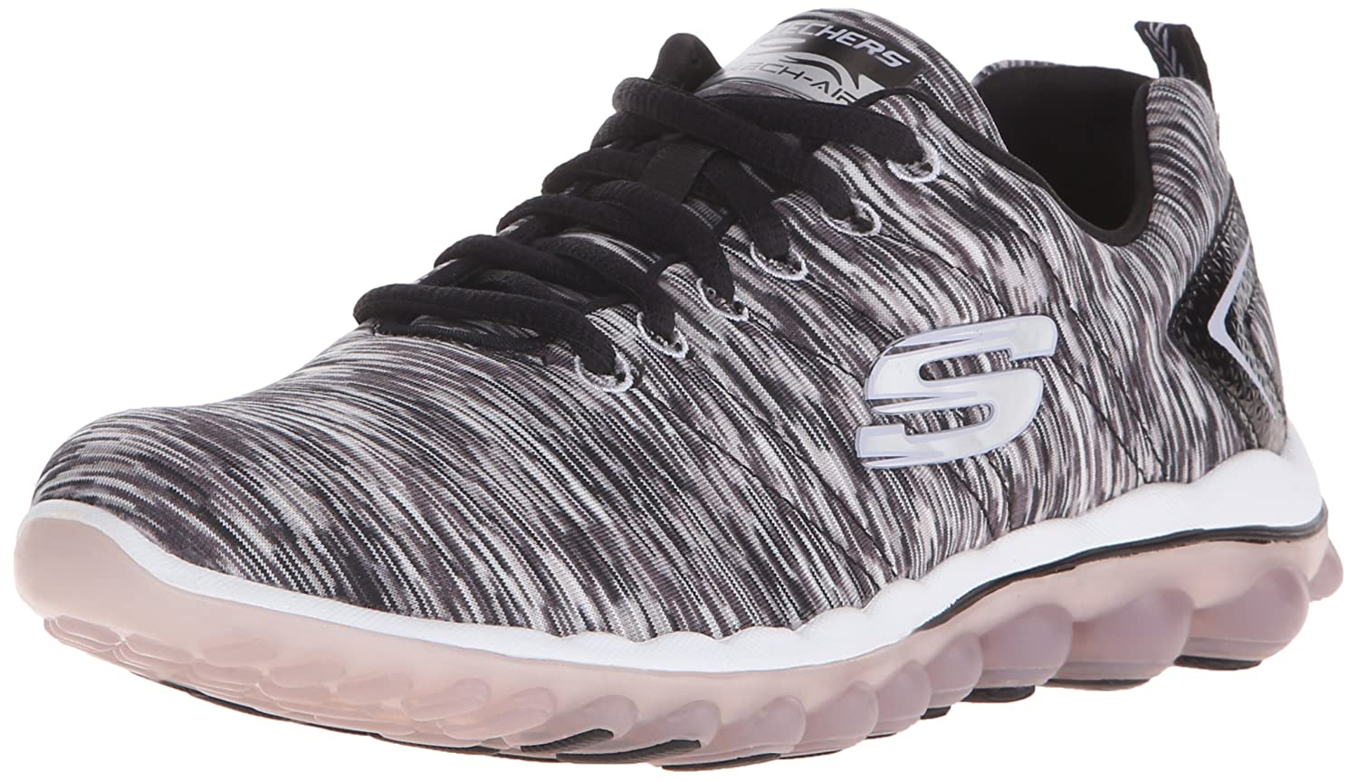 Skechers Sport Women's Skech Air Run High Fashion Sneaker B013BLT2FI 10 B(M) US|Black/White
