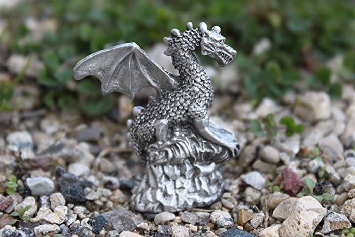 Hastings Pewter Company Lead Free Pewter Moon Figurine with Hanging Celestial Sun Charm Statue