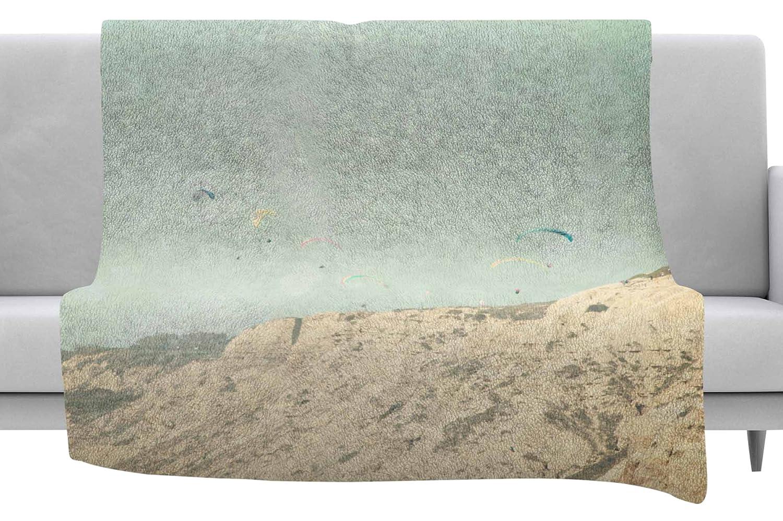 60 x 40 Fleece Blankets Kess InHouse Sylvia Coomes West Coast 2 Pastel Coastal Throw