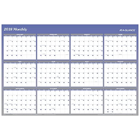 AT A GLANCE A1152 18 Yearly Wall Planner January 2018