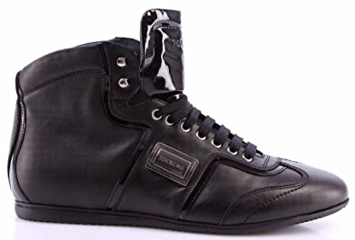 reputable site 7219b 6d4e5 Iceberg Men's Shoes High Top Sneakers Leather Baltimora Nero ...