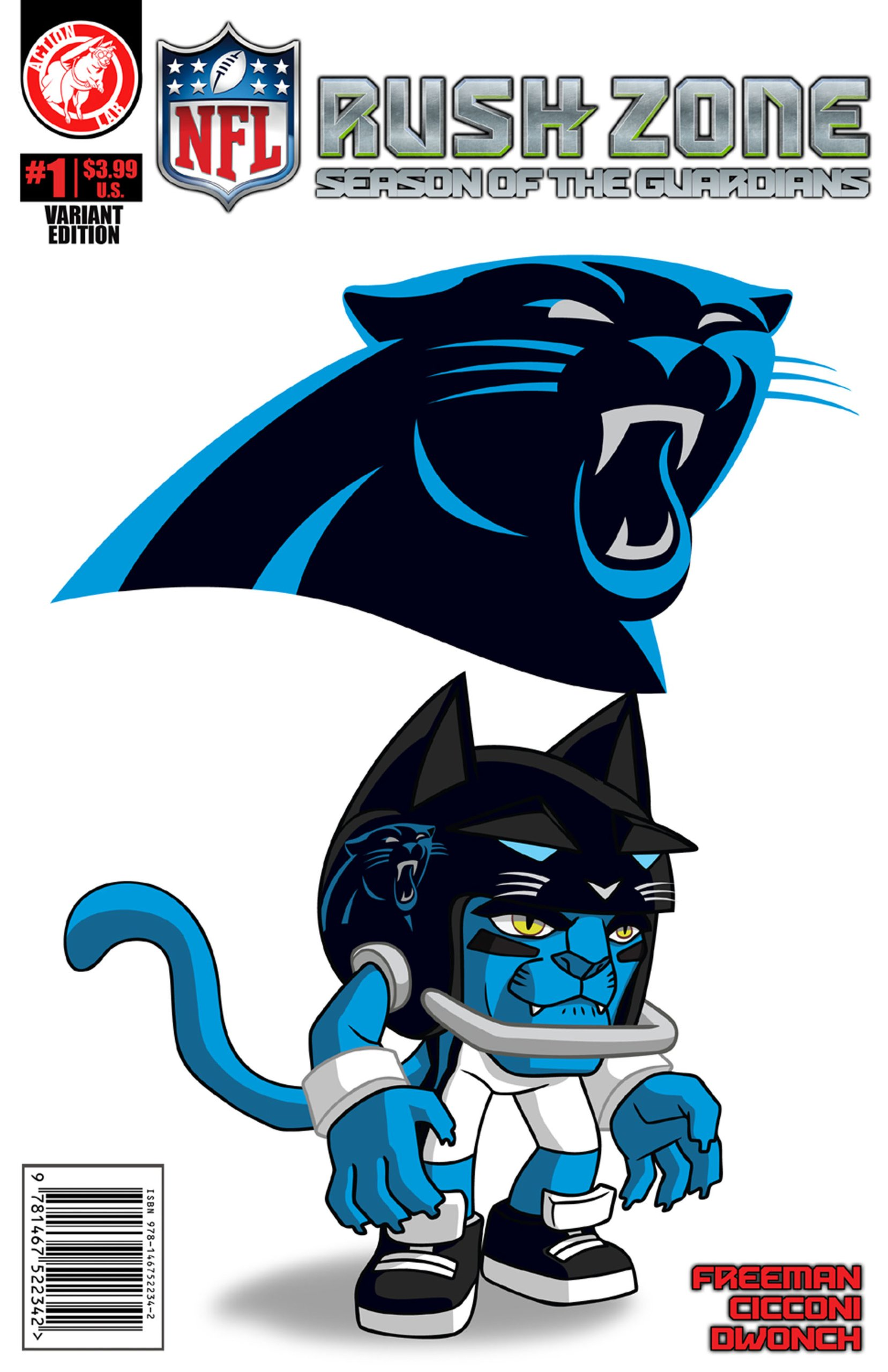 Nfl Rush Zone Season Of The Guardians 1 Carolina Panthers Cover Freeman Kevin Goodwin M 9781939352200 Amazon Com Books