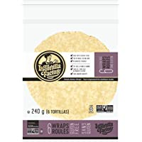 La Tortilla Factory Gluten-Free Wraps, 6-Pack of Non-GMO Cassava Flour Wraps (Wheat, Soy and Dairy Free), 240gm