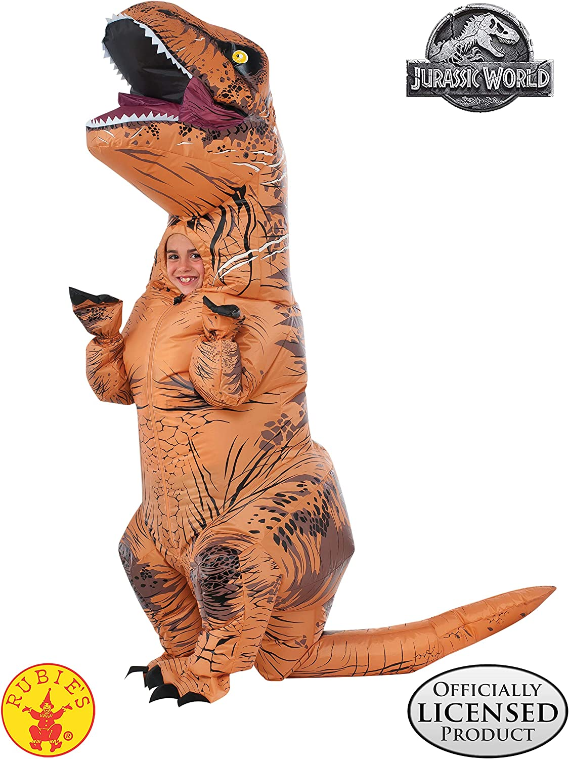 Rubie s Jurassic World T-Rex Inflatable Costume  Child s Size Small