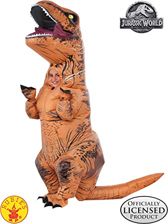 Rubies Jurassic World T-Rex Inflatable Childs Costume, One Size