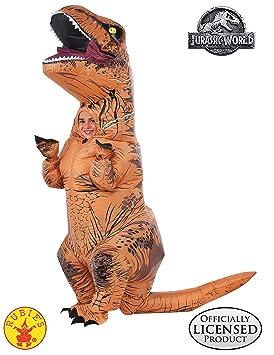 Jurassic World - Disfraz hinchable de dinosaurio T-Rex para niños, infantil Talla única (Rubies 610821)
