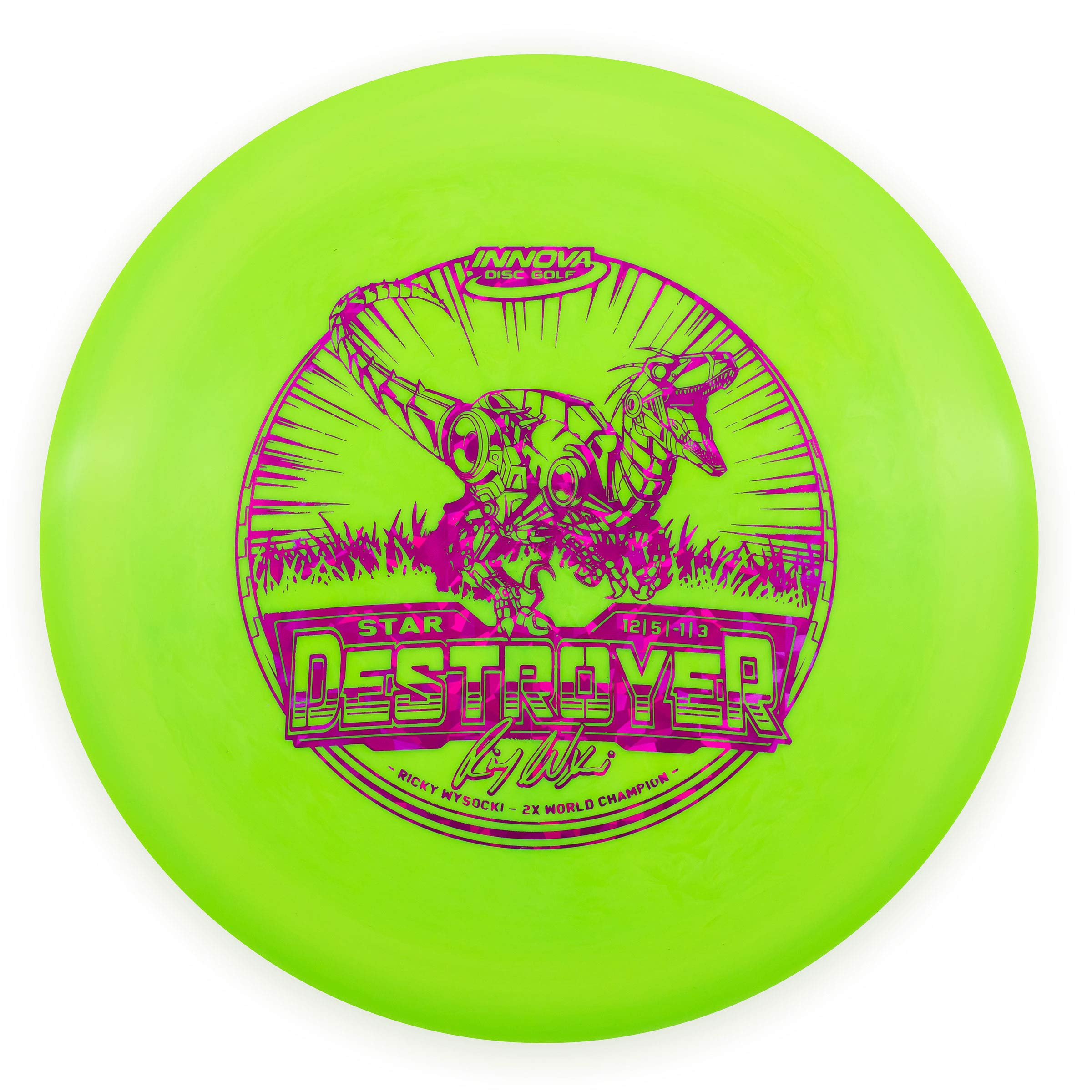 Innova Ricky Wysocki 2X Star Destroyer Distance Driver Golf Disc [Colors May Vary] - 151-159g by Innova Disc Golf