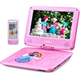 "UEME 9"" Portable DVD Player for Kids with Swivel Screen 