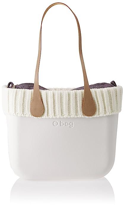 O bag - Evs00_tes91_las04_ecs00, Bolsos de mano Mujer, Bianco (Latte), 39x31x14