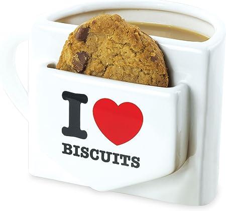 Mugs Tasse avec Emplacement pour 1 Biscuit Inscription I Love Biscuits:  Amazon.fr: Cuisine & Maison