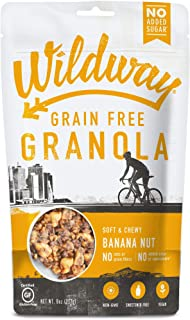product image for Wildway Keto, Vegan Granola | Banana Nut | Certified Gluten Free, Paleo, Grain Free, Non GMO, Dairy Free, No Artificial Sweetener | 8oz, 6 pack