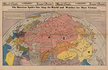 Amazon.com: Historic Map | The Russian Spider Sits Atop the World ...