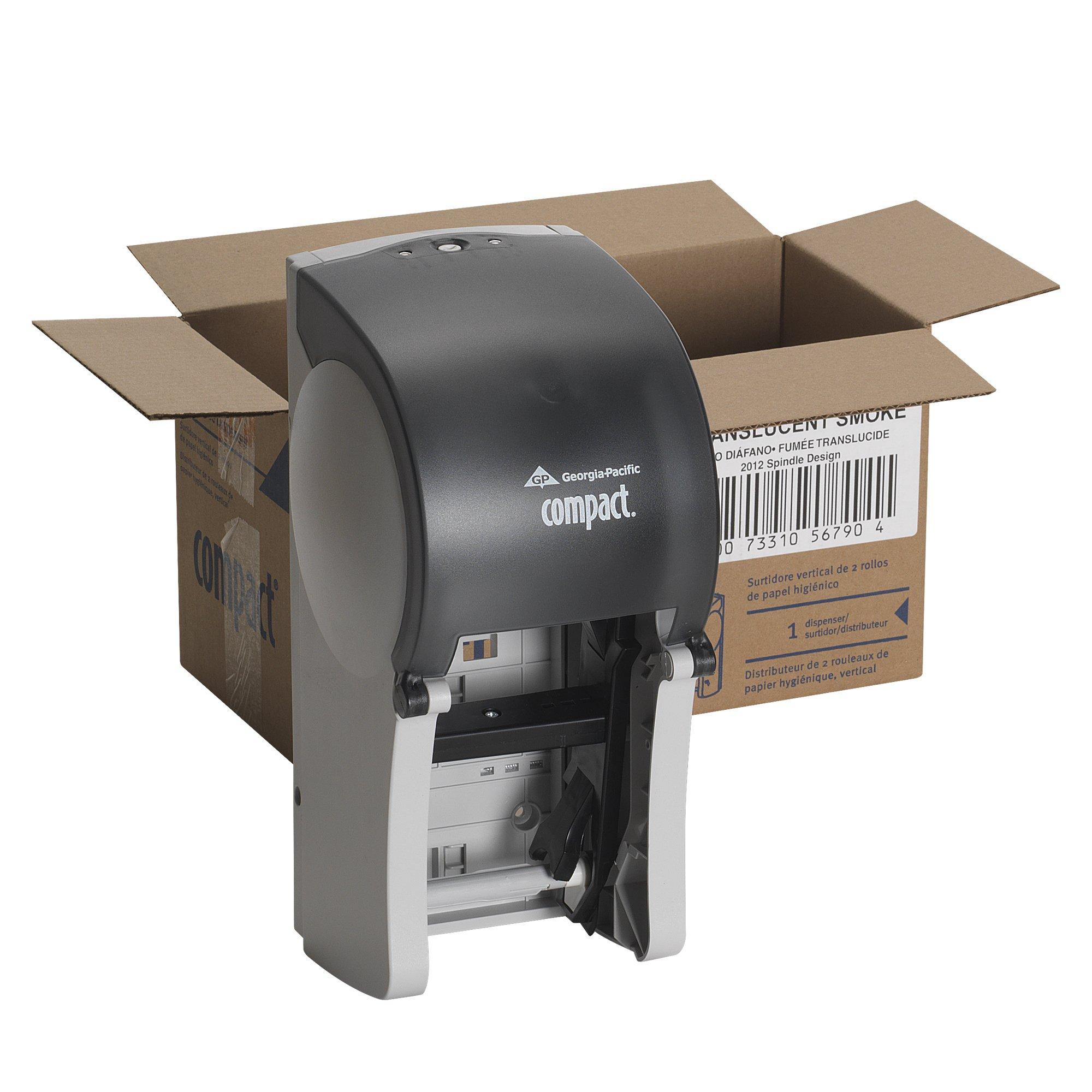 Compact GPC 567-90 6'' Width, 13.50'' Height, 6.50'' Depth Vertical Double Roll Coreless Tissue Dispenser