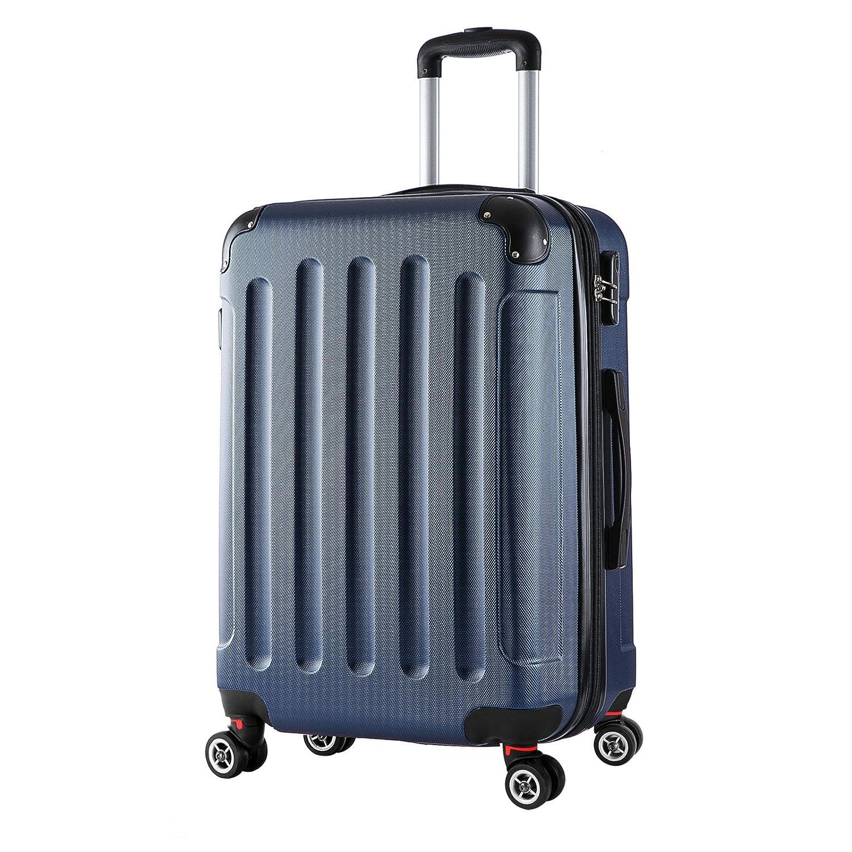 WOLTU RK4201bl Valise Rigide 4 roulettes Solide, Valise Bagage à Main Taille M(56 cm et 42 litres),Bleu