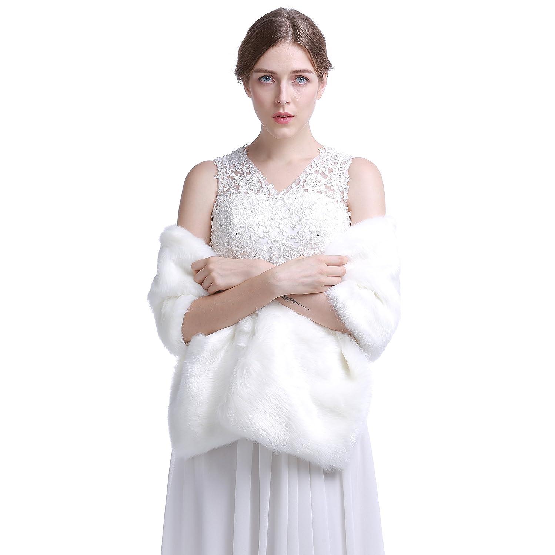 75b2915e8413 Outerwear BerryGo Womens Shaggy Long Faux Fur Coat Jacket Outwear BECL06622