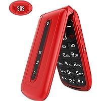 "Ukuu F240 Teléfono Móvil con Tapa(Dual SIM, 2.4"""