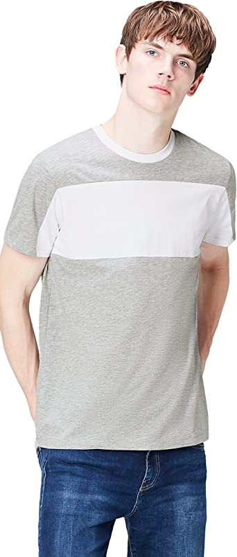 Marca Amazon - find. Camiseta de Rayas para Hombre