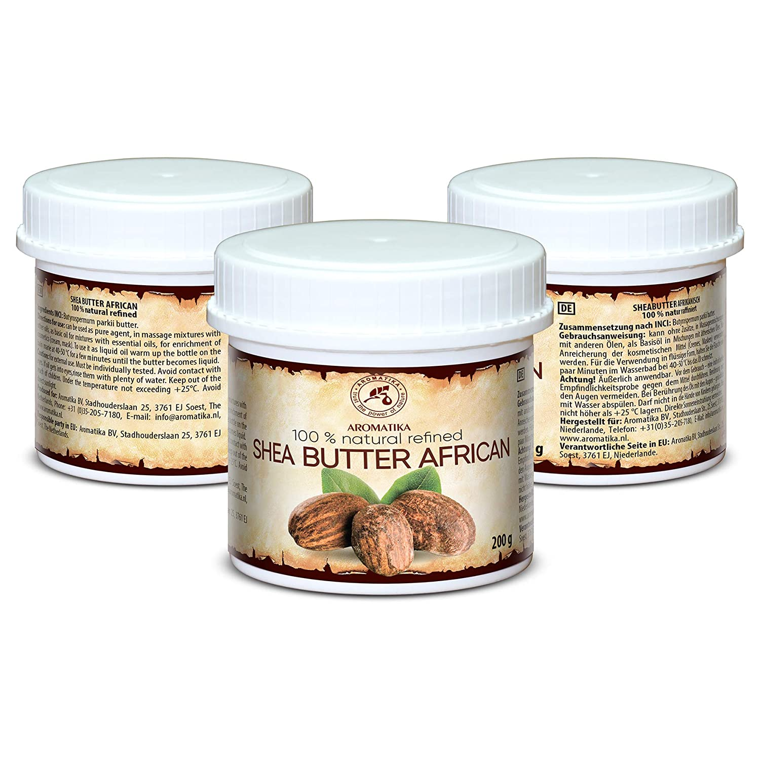 Amazon.com: Shea Butter African 200g - Refined - Butyrospermum Parkii Butter - African - 100% Pure & Natural - Sheabutter - Best for Hair - Skin - Lip ...