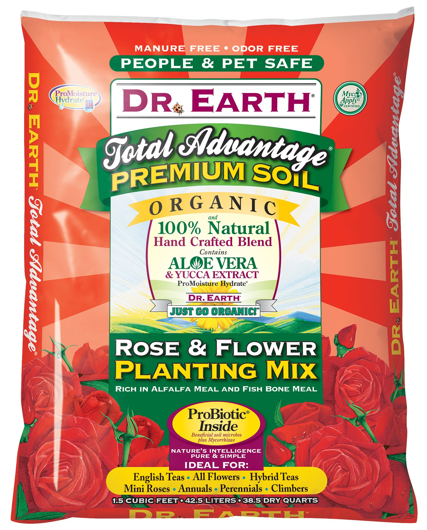 Dr. Earth 805 1-1/2 Cubic Feet Rose and Flower Planting Mix by Dr. Earth