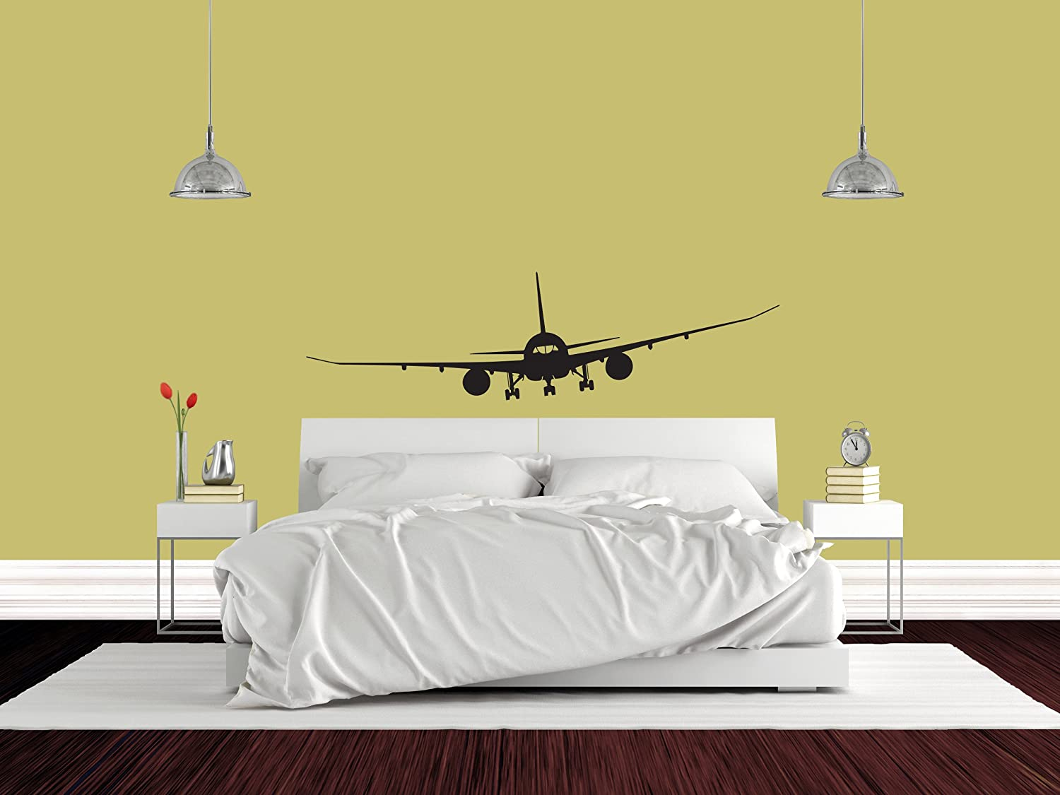 Amazon.com: Airplane Boeing 787 jet Airplane Mural Vinyl Wall Decal ...