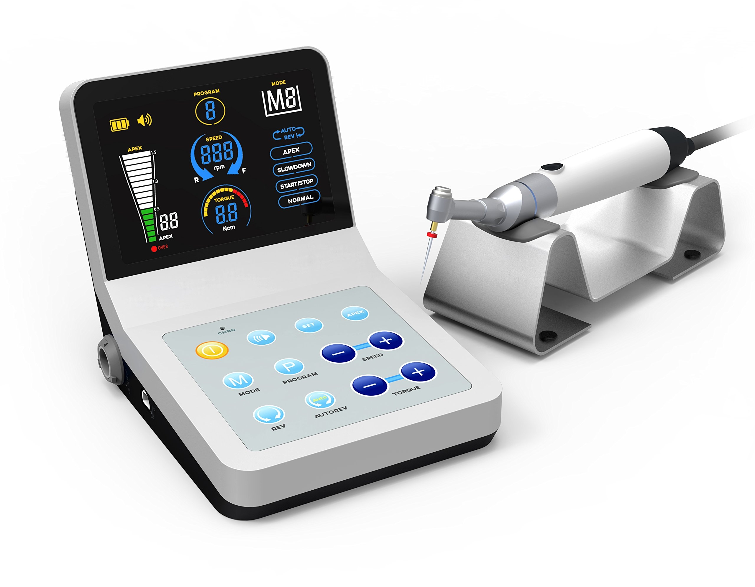 Aphrodite Brand New Apex Locator Endodontic R-SMART PLUS Root Canal Finder Endo Equipment with Large Colorful OLED Screen Model by East