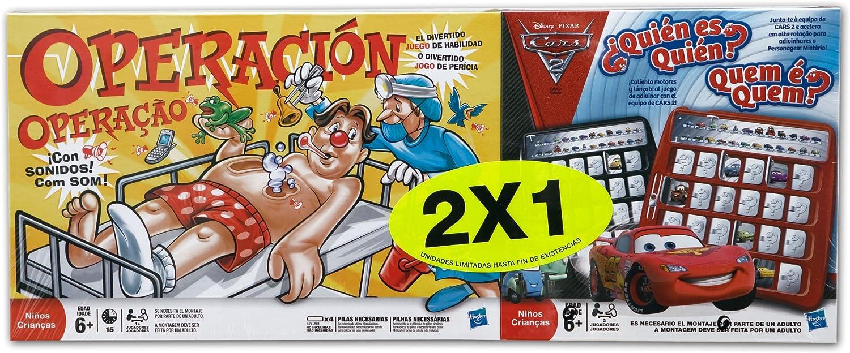 Hasbro Juegos Infantiles Operacion + Quien Es Quien Cars A1681500 ...