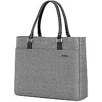 Bolsa para laptop, DTBG 39.6 pulg Cartera de mujer, portafolios casual, bolso de náilon para computadoras portátiles de 15–15.6pulgadas (38.1 a 39.6 cm) Tableta / Ultra-Book / MacBook / Chromebook (rosa), gris