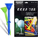 """Champkey Big Cup Plus 3-1/4"""" Golf Tees(Pack of 30pcs or 50Pcs) - Oversize Head Reduce Friction & Side Spin,More Durable…"""