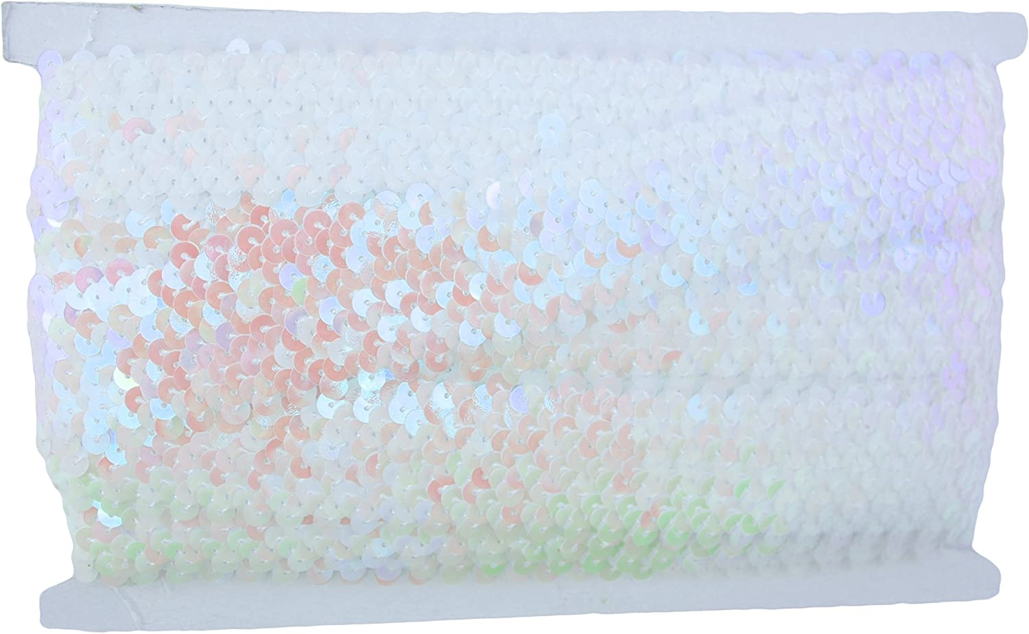 2 Widths Threadart Green Stretch Sequin Trim Roll Available in 18 Colors 1 Wide 11yd Length