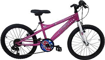 Route 66 - Bicicleta para niño, Rosa, tamaño: 510 mm (20 Pulgadas), 6V: Amazon.es: Deportes y aire libre
