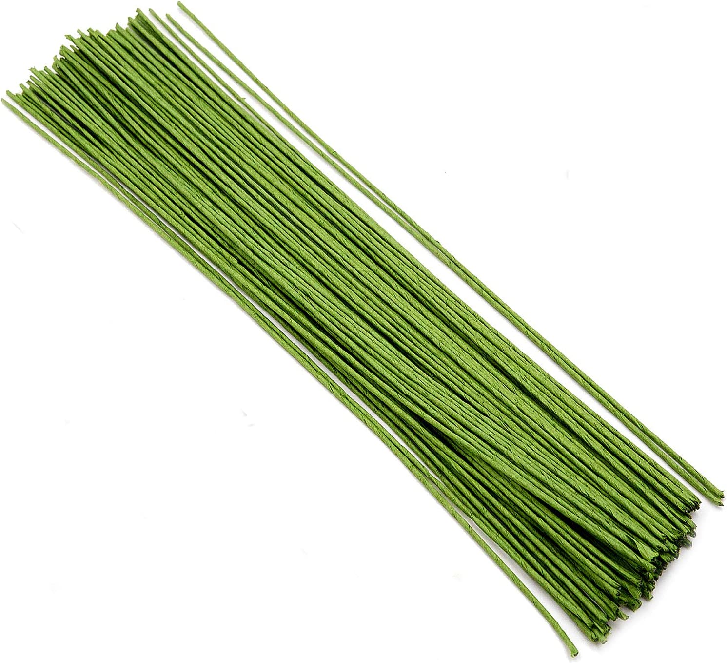DIY Floral Arrangements and Decorations Floral Paper Wrapped Wire for Flower Making Green Floral Wire KEILEOHO 400 PCS Floral Stem Wire 14 Gauge 15.75 Inches Length