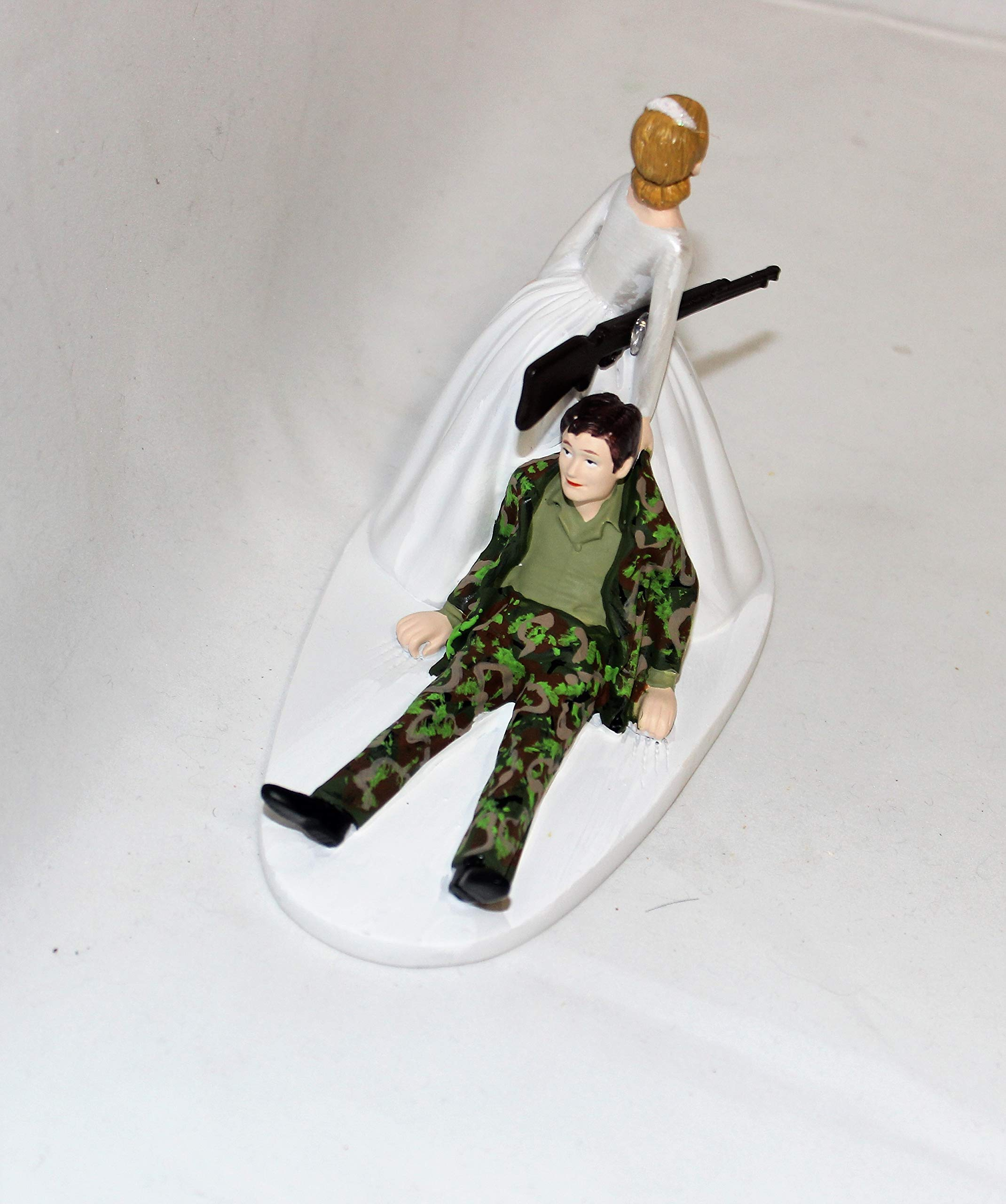Military Camo Redneck Wedding reception party Hunter Hunting Cake Topper by Custom Design Wedding Supplies by Suzanne (Image #1)