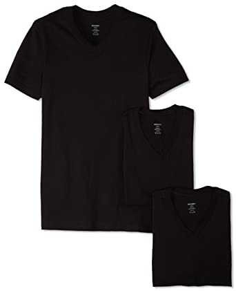 0570532b Essential Cotton 3 Pack V-Neck T-Shirt at Amazon Men's Clothing store: