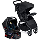 Britax B-Clever Lightweight Stroller B-Safe 35 Infant Car Seat Travel System with Child Tray One Hand, Easy Fold Ventilated C