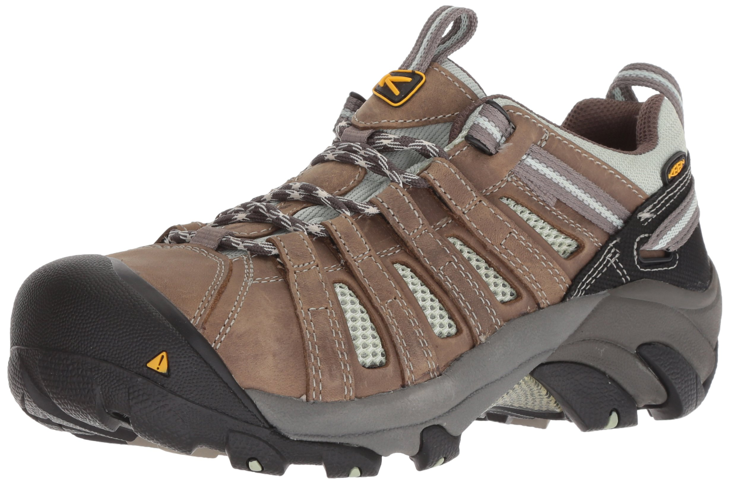 KEEN Utility Women's Flint Low Work Boot,Drizzle/Surf Spray,9 M US