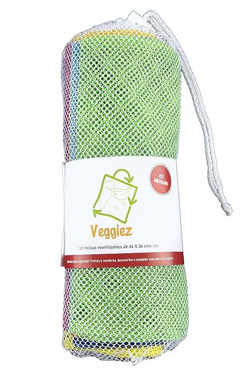 10 Bolsas Ecológicas para Frutas, Verduras, Supermercado ...