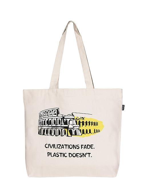 4bce25b14 Eono Essentials - Bolsa al hombro de 100 % algodón/tela, reutilizable y  ecológica