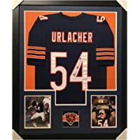 $278 » Brian Urlacher Autographed Football Jersey - Framed Chicago Blue Custom - Hand Signed & JSA Authenticated