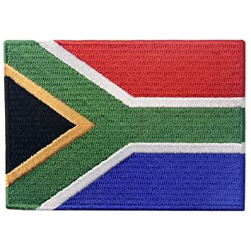 South Africa National Flag Emblem Embroidered Patch ZA Sew Iron Applique DIY