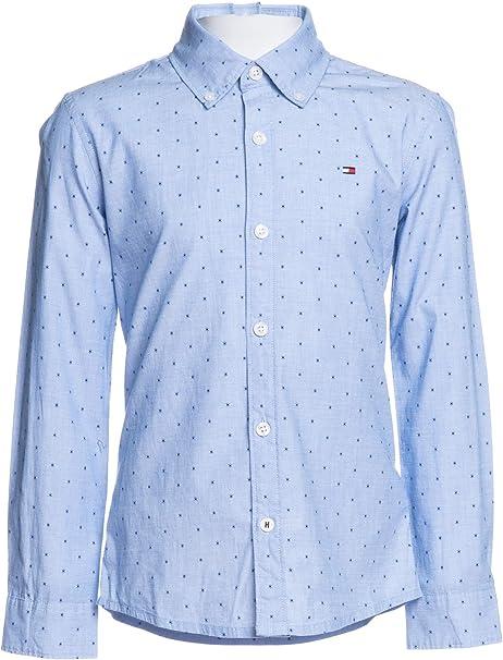 Tommy Hilfiger - Camisa Fill A Fill Shirt- Camisa NIÑO (16 AÑOS): Amazon.es: Ropa y accesorios